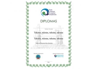 DIPLOMO DIZAINO KŪRIMAS – PIRTININKAMS